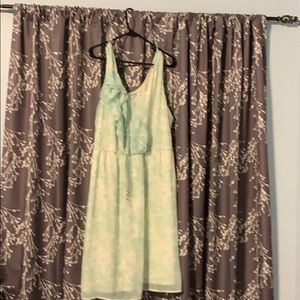 Cream and Mint green dress from Maurices. Size 2